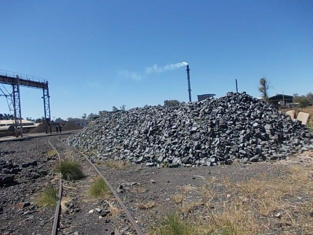 Chrome Ore Offloaded at Plant Railway Siding